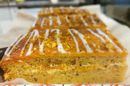 Pistachios, Almond & Parsnip Cake