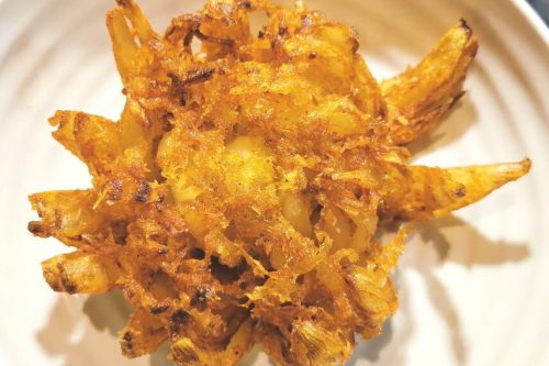 Gluten Free, Vegan Onion Bhaji Flower